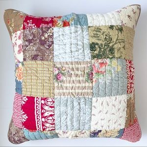 Pottery Barn Patchwork Euro Sham Cover
